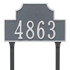 Montague Metal Products Beckford Estate One Line Address Plaque Finish: Antique Copper / Copper