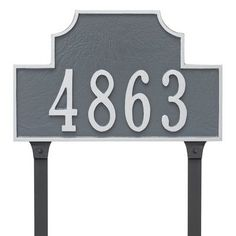 Montague Metal Products Beckford Standard One Line Address Plaque Finish: Chocolate/Silver