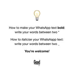 Het jy geweet jy kan dít in Whatsapp doen? Whatsapp Text, Good Housekeeping, Your Word, Funny Quotes, Make It Yourself, Writing, Words, Sewing, Inspiration
