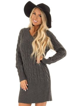 Cute Boutique Dresses for Women - Online Cable Knit Sweater Dress, Cute Boutiques, Fabulous Dresses, Boutique Dresses, Autumn Fashion, Rompers, My Style, Sweaters, Knits