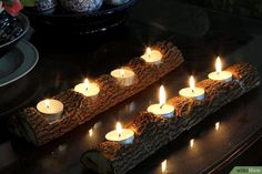 How to Make a Tree Branch Tealight Candle Holder: 12 Steps