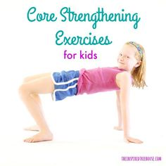 The Easiest Core Strengthening Exercises for Kids The Inspired Treehouse - Core strengthening is essential for the progression of nearly all other developmental skills. Learn some fun ways to help strengthen kids' core muscles! Pediatric Physical Therapy, Occupational Therapy, Physical Education, Health Education, Movement Activities, Therapy Activities, Physical Activities For Kids, Sensory Therapy, Yoga For Kids