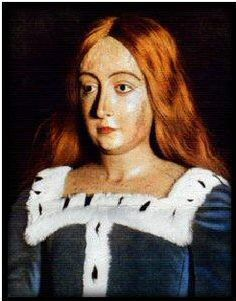 An effigy of Queen Elizabeth of York, crafted from her death mask.