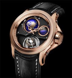 Cecil Purnell V17 World Time Bi-Axial Tourbillon