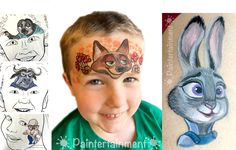 www.Paintertainment.com - Zootopia face paint by Gretchen Fleener - click for more ideas and product links!