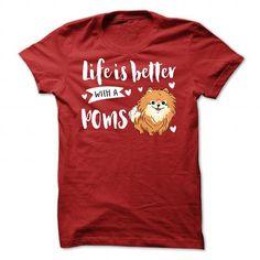 POMERANIAN Better T Shirts, Hoodie. Shopping Online Now ==► https://www.sunfrog.com/Pets/POMERANIAN_Better.html?41382