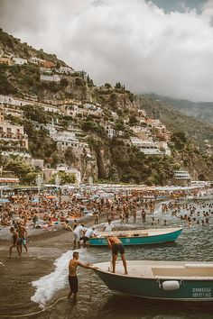 Thinking about planning a trip to the Amalfi Coast? I would definitely recommend spending some time around Positano with the stunning beache. Bedroom Wall Collage, Photo Wall Collage, Picture Wall, Picture Collages, Best Vacation Destinations, Vacations, Magic Places, Vintage Italy, Travel Aesthetic