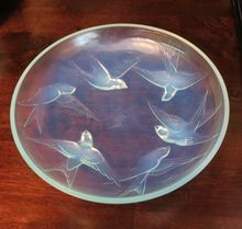 "Beautiful large piece of  Sabino opalescent glass:""Oiseaux de Paradis"" or ""birds of Paradise"" from DCP Horses Antiques and Collectibles"