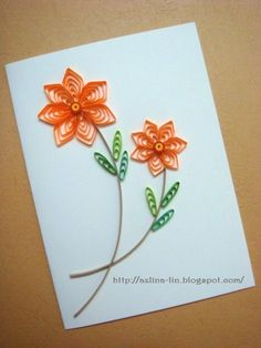 Lin Handmade Greetings Card: Creating cascading loops