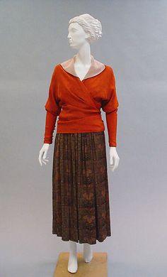 * FEUILLE D'AUTOMNE fur, silk  1916  Paul Poiret