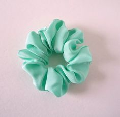 Mint Green Scrunchie Silk Kimono Hair Tie Japanese by tomoandedie (Accessories, Hair Accessories, Ties & Elastics, mint Green Scrunchie, Silk Kimono, Hair Tie, Japanese, Ponytail Holder, Gift for Her, Hair Accessory, present for her, birthday gift, ethical gift, made in usa, ship from usa, nihongo team 日本語)