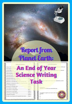 This no prep, print & go end of year product is a fun and engaging way for students to demonstrate what they learned in their Science class this year. A writing prompt asks students to pretend to be alien scientists and write letters about the most important scientific ideas they encountered while secretly observing Earth. A writing prompt in RAFTS form, 4 graphic organizers, an evaluation rubric & instructions for an optional speaking task are also included.
