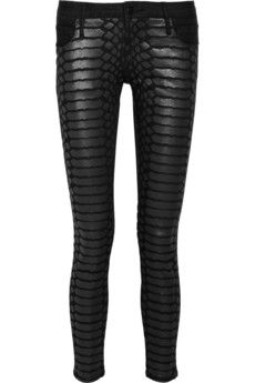 Sass & Bide The Last Stand Croc-Print Cropped Skinny Jeans
