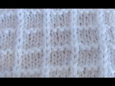 Простой вафельный узор спицами. Simple knitting pattern. - YouTube