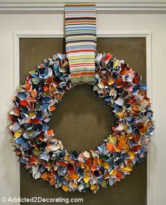 Upcycled Magazine Wreath