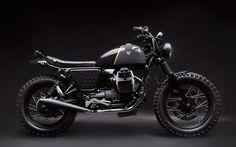 ϟ Hell Kustom ϟ: Moto Guzzi V7 2013 By Vernier Customs