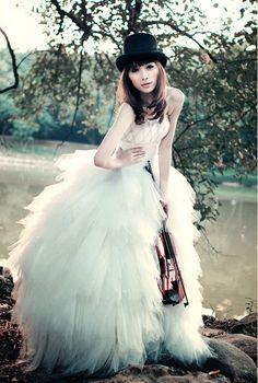Tulle dress white prom fashion