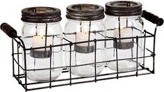 Clear S3 Mason Jar Votive WMetal Rack in GB ** Check out the image by visiting the affiliate link Amazon.com on image.