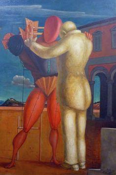 """""""Il figliol prodigo"""" è una celebre opera del pittore italiano Giorgio De Chirico oggi conservata presso il Museo del Novecento di Milano. Il quadro ha avut"""