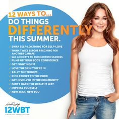 Have a healthy Summer with 12WBT! #HealthySummer