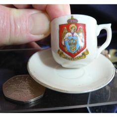 Crested China Cup And Saucer - Lowestoft Crest