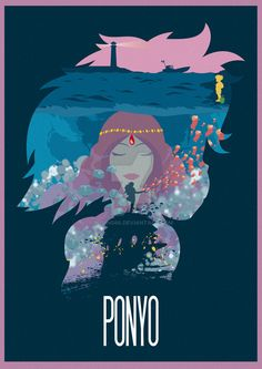 Ponyo ~ Minimal Movie Poster by Ruben ~ Hayao Miyazaki Series , Totoro, Studio Ghibli Art, Studio Ghibli Movies, Studios, Minimal Movie Posters, Howls Moving Castle, Animation, Fanart, Hayao Miyazaki