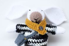 Noah a handmade knitted bunny rabbit soft by handylittleme on Etsy