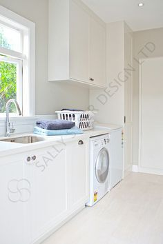 Laundry 399 by Sally Steer for Cahoots Stacked Washer Dryer, Washer And Dryer, Sally, Washing Machine, Laundry, Home Appliances, Design, Laundry Room, House Appliances