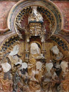 Retábulo do altar da capela Jan van Arkel., séc. XV, catedral de Utrecht, Alemanha. Descoberto por detrás de uma parede de gesso em 1919, foi desfigurado em 1572 durante a Reforma.