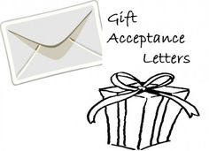 How to Write Gift Acceptance Letter #stepbystep