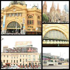 Flinders Street Station Intersection Melbourne Australia