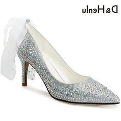 36.98$  Watch now - https://alitems.com/g/1e8d114494b01f4c715516525dc3e8/?i=5&ulp=https%3A%2F%2Fwww.aliexpress.com%2Fitem%2FD-H-Shoes-Women-Crystlal-Wedding-Shoes-Big-Butterfly-knot-Ribbon-Rhinestones-Woman-High-Heels%2F32780282970.html - D&HShoes Women Crystlal Wedding Shoes Big Butterfly-knot Ribbon Rhinestones Woman High Heels Dress Stilettos Womens Shoes