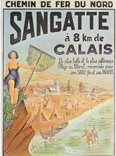 Publicité Chemin de Fer du Nord : SANGATTE