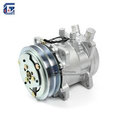 A/C AC Air Conditioning Compressor SD505 5H09 12V / 24V 2A V Belt Pulley Tractor Excavator Heavy Duty Truck Pickup Universal