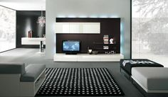 Furniture. Opulent and Stylish TV Cabinets for Flat Screens: Black ...