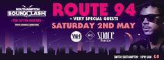 SOTONIGHT | Southampton Soundclash 2015: Afterparty @ Switch w/ Route 94 (Hosted by Space Ibiza) - http://www.sotonight.net/event-tickets/southampton-soundclash-2015-afterparty-switch-w-route-94-hosted-by-space-ibiza/  Space Ibiza presents: SOUNDCLASH AFTERPARTY at Switch Southampton with Route 94. 10pm-6am. BUY TICKETS   Route 94 + more TBA