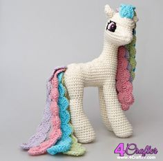 Princess Celestia (My Little Pony) Amigurumi Pattern Modification by Natalia Osinska / StuffTheBody-FREE-Free Craft Patterns