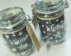 Originele #kadoverpakking. Weckpot met slab. Leuk kado voor een babyshower of kraambezoek van www.bepenco.com