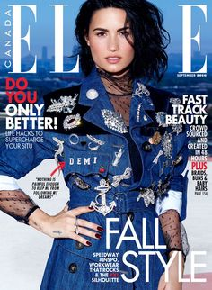 Demi Lovato on ELLE Canada Magazine September 2016 Cover