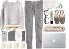 """LazyDay"" by m-balli on Polyvore. i would live in this in the winter! :D"