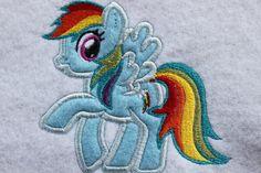 Rainbow Pony Embroidery Design on Etsy, $5.00