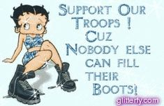 Support Our Troops Betty Boop