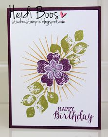 It's time for another blog hop with the Stylin' Stampin' INKspiration girls! This month's theme is all about May FLOWERS ! We are really en...