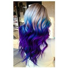 Fabulous Purple and Blue Hair Styles Purple and blue hair hair styles are all the rage, and we wish to experiment with the hair color.Purple and blue hair hair styles are all the rage, and we wish to experiment with the hair color. Ombre Hair Color, Cool Hair Color, Purple Ombre, Galaxy Hair Color, Purple Blue Ombre, Dyed Hair Ombre, Gray Ombre, Dark Purple, Blue Brown