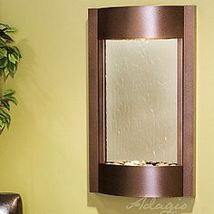 The Serene Water Wall Fountain will bring the beauty and tranquility of nature's sight and sound into your home or office. Indoor Wall Fountains, Indoor Fountain, Steel Wardrobe, Water Wall Fountain, Color Changing Light Bulb, Stainless Steel Cabinets, Water Walls, Water Treatment, Light Installation