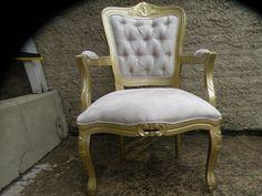 Poltrona Cadeira Amamentação, Decoração Luiz Xv Capitone - R$ 889,00 no MercadoLivre