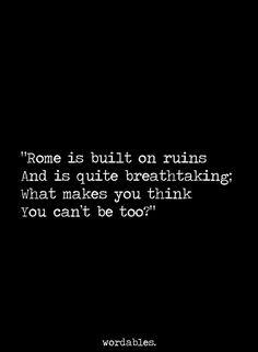 built on ruins