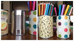 crafting cans by Heather Says, via Flickr