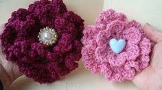 crochet flower hat - YouTube