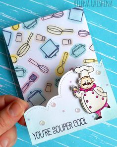 I love how they used a cloud die to make a fun edge cut. Recipe for Happiness stamp set and Stitched Cloud Edges Die-namics - Vilena Grishina Scrapbooking, Scrapbook Cards, Card Making Inspiration, Making Ideas, Birthday Delivery, Pop Up Card, Menu Card Design, Mft Stamps, Cool Cards